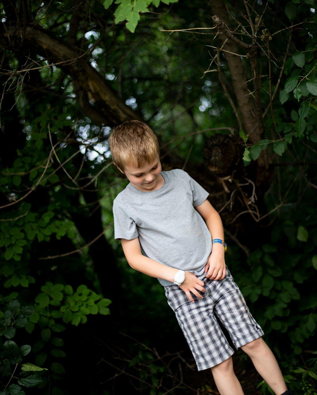 Outdoor lifestyle child portrait