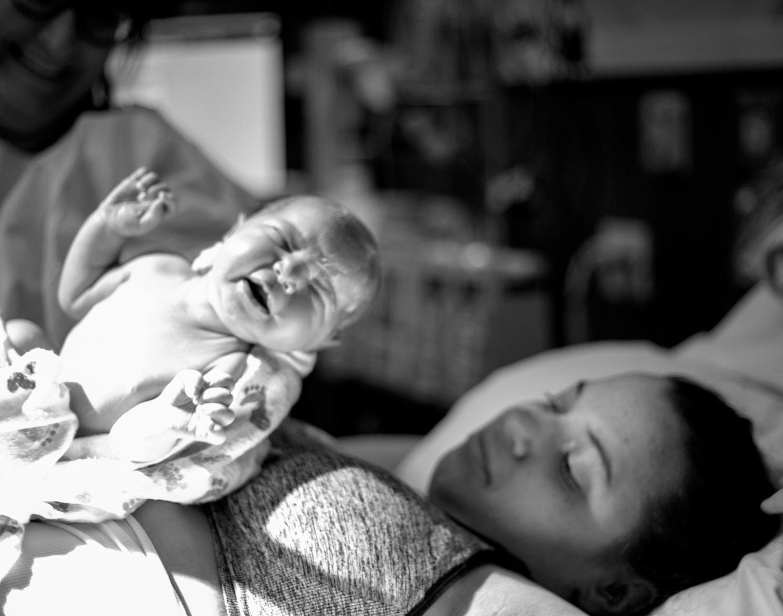 Newborn birth story photography